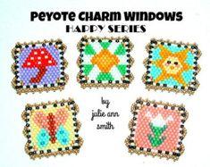 Julie Ann Smith Designs PEYOTE CHARM WINDOWS Happy Series