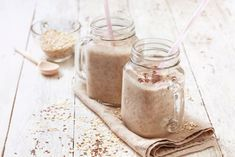 My Smoothie Corner: 3 High Protein Smoothies Recipes Athletes Will Love Protein Smoothies, Protein Shake Recipes, Oatmeal Smoothies, Protein Shakes, Snack Recipes, Chocolate Chip Oatmeal, Oatmeal Cookies, Fitness Drink, Flax Seed Benefits