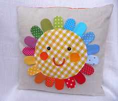 Rainbow Rosey pillow | Flickr - Photo Sharing!