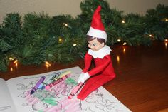 Elf loves to color