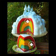 Inside Surprise Rainbow Cake Tutorial by TerryTutorials on Etsy,