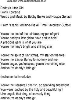 Music charts top songs 1948 - lyrics for Daddys Little Girl