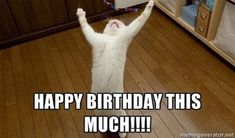 Get the best collection of Cat Memes, Funny Cat Memes & Happy Birthday Cat Memes a the funniest way to send birthday wishes to your friends & family. Cat Birthday Memes, Funny Happy Birthday Meme, Birthday Posts, Happy Birthday Quotes, Birthday Messages, Birthday Pictures, Birthday Images, Happy Birthday Wishes, 20 Birthday
