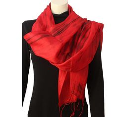 Silk Luxury Scarf red 2
