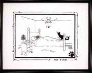 Schema punto croce Gatto Nero Letto1