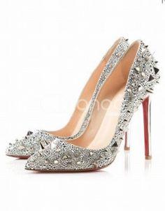 Elegant Silver 4 1/3'' Heel Flannel