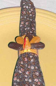Wooden Turkey Napkin Ring Craft Project