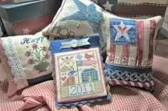 Carolina Stitcher: My last day in the craft room......very Patriotic~~~It's a GOOD thing!