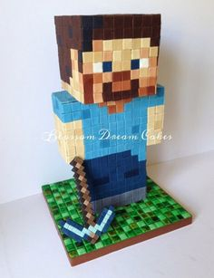Steve Minecraft, Amazing Minecraft, Mine Craft Party, Bolo Mine Craft, Minecraft Birthday Cake, Cake Minecraft, Minecraft Cookies, Minecraft Room, Mindcraft Cakes