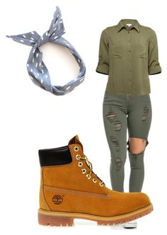 """""""Camo green"""" by mayal-2 ❤ liked on Polyvore featuring Timberland"""