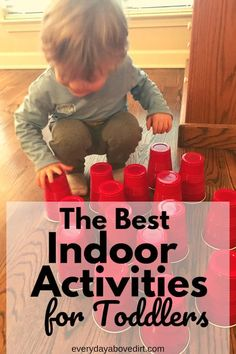 Indoor activities that are great for 2 year olds and 3 year olds. Easy, at home activities that are great for rainy days and activities to burn energy. #toddler #2yearold #3yearold #rainydays #toburnenergy