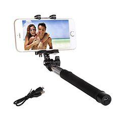 e38e222cc58c3b Amazon.com: Wireless Selfie Stick, KAPAS Foldable 3.5ft Extends Up Premium  Bluetooth Remote Shutter Extendable Monopod with Adjustable Holder for  iPhone ...