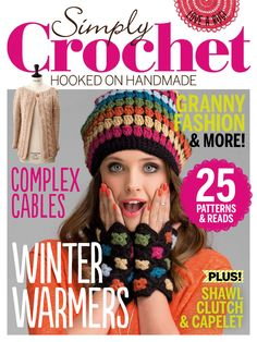 Simply Crochet is a brand new monthly craft magazine from Future Publishing – the home of other Moda Crochet, Crochet Stitches, Free Crochet, Knit Crochet, Crochet Patterns, Crochet Hats, Knitting Magazine, Crochet Magazine, Knitting Books