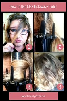KISS InstaWave Curling Iron Review. Like the name says this curls your hair in an instant, plus it's fool proof.