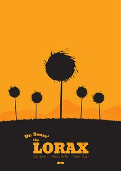 The Lorax (2012) ~ Minimal Movie poster by Mads Svanegaard #amusementphile