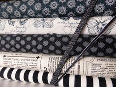 """Stoffpaket """"Black & White"""" von Die Kleine Stoffwerkstatt auf DaWanda.com"""