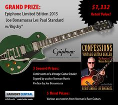 I just entered to Win a Limited Edition Joe Bonamassa Les Paul Standard! You can too!