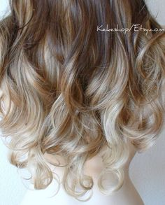 Brown / Toffee / Dirty blonde Ombre hair by kekeshop, $129.95
