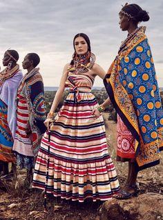 """""""African Vibration"""" Renata Zandonadi for Vogue Japan May 2016"""