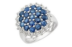 """pretty """"over the top"""" sapphire ring"""
