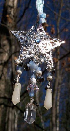 Winter Solstice:  #Winter #Solstice Star Ornament, by EarthStarStudios.