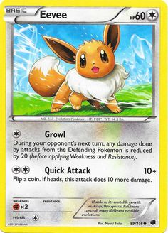 Eevee | Basic | Normal | NO. 133 Evolution Pokemon | 89/116