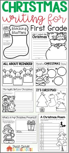 Christmas Writing Activities First Grade | Christmas Writing Prompts