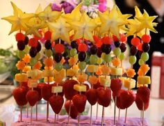 Fancy fruit skewers | rePinned by CamerinRoss.com