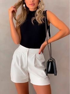 Cute Casual Outfits, Short Outfits, Casual Chic, Stylish Outfits, Spring Outfits, Elegant Summer Outfits, Mode Outfits, Fashion Outfits, Elegantes Outfit Frau