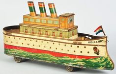Tin Litho Holland Ship Biscuit Tin.