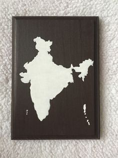 India map India painting India art painted map by GoldfinchSigns