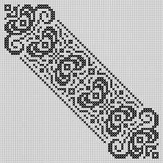 Night Circus Bookmark Blackwork Patterns, Embroidery Patterns, Cross Stitch Patterns, String Crafts, Night Circus, Filet Crochet, Bookmarks, Needlepoint, Tapestry