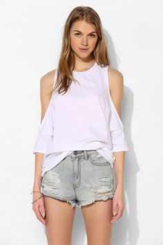 Truly Madly Deeply Cold Shoulder Tee #urbanoutfitters