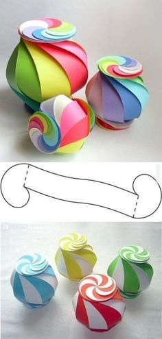 How to Make 10-sided Rainbow Globe Gift Box | www.FabArtDIY.com