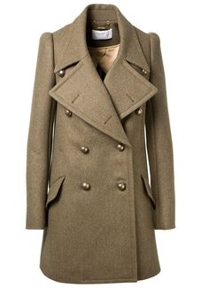 Manteau officier Chloé en laine