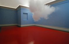 Netherlands artist Berndnaut Smildeas in the room created visual effect of cloud. He used a smoke-making machine, by water vapor and special lighting effects, to create 'rain clouds' in the room. Art Optical, Dramatic Lighting, Rain Clouds, Create Words, Dutch Artists, Exhibition Space, Land Art, Installation Art, Art Installations