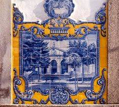 Azulejos from the train station in Vilar Formoso, Portugal