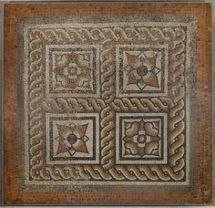 Mosaico romano en el Museo del Bank of England, Londres. | Matemolivares