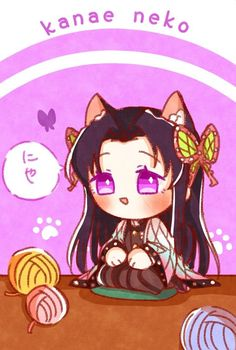 Anime Girlxgirl, Cute Anime Chibi, Kawaii Chibi, Anime Angel, Kawaii Cute, Anime Demon, Kawaii Anime, Anime Art, Demon Slayer