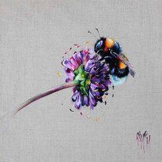 Honey Love (Bees) - Georgina McMaster (Signed Limited Edition Giclee on Paper) - Buy online here at the Enid Hutt Gallery - Honey Love (Bees) - Georgina McMaster (Signed Limited Edition Giclee on Paper) -