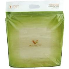 Verterra 10-Inch Square Plates Package 8 Count