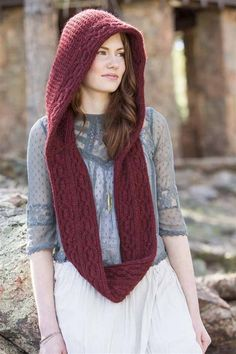 Go There Now When you're traveling through the woods with a basket of goodies in your hands, you don't want to fuss with a long scarf (which will certainly slip off your shoulder and get caught in the thicket) or hat (which could be snatched away on the wind). The attached infinity crochet scarf keeps…