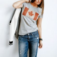 Roots - Women's Canada Flag T