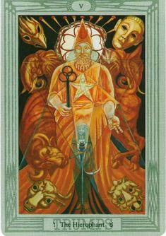 Aleister Crowley Tarot, Super New Moon, All Tarot Cards, The Hierophant, Tarot Major Arcana, Daily Tarot, Tarot Card Decks, Oracle Cards, Celestial