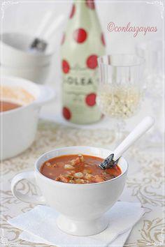 Sopa de marisco {by Paula, Con las Zarpas en la Masa}