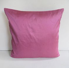 STOCK CLEARANCE 40% off- mauve silk pillow cover 18 inch
