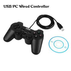 Wired USB Gamepad Game Gaming Controller Joypad Joystick Control for PC Computer Laptop freeshipping Black
