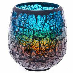 Crackle Mosaic Tea Light Holder http://shop.crackerbarrel.com/Crackle-Mosaic-Tea-Light-Holder/dp/B00ISD2GEO