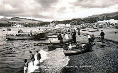 The Boating Beach at Largs North Ayrshire in the late 1940's early 50's