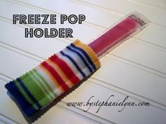 Great project for kids who sew • Freeze Pop Holders | 50 Tiny And Adorable DIY Stocking Stuffers
